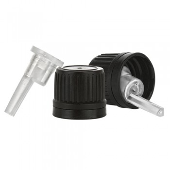 Orifice Reducer with Black Tamper Evident Cap - 18 mm