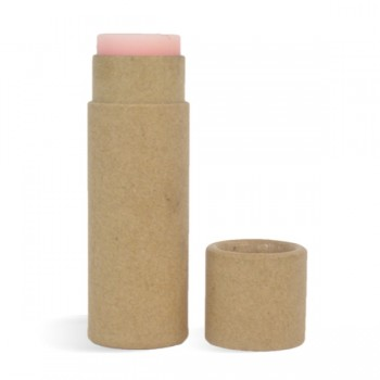 0.5 oz Paperboard Lip Tube & Cap Set, Kraft