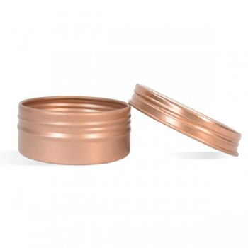 0.5 oz Shallow Rustproof Tin & Screw Top Set - Rose Gold