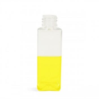 2 oz Clear Square Plastic Bottle - 20/410