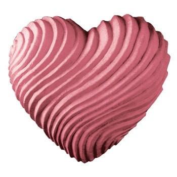 Swirled Heart Soap Mold (Milky Way)