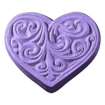Victorian Heart Soap Mold (Milky Way)